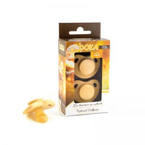 Suce Boka tétine latex 0-6 mois boîte de 2 suces nouveau design